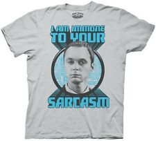 The Big Bang Theory Sheldon Immune to Sarcasm T-Shirt, NEW UNWORN