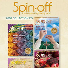 4 Issues on CD: SPIN-OFF MAGAZINE 2002 Spinning Yarn NEW
