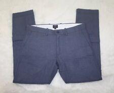 J Crew Mens The Driggs Blue Herringbone Flat Front Casual Pants Size 32W x 30L