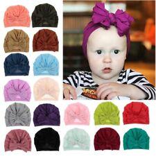 Bow Cotton Baby Hat Child Girl Boy Turban Beanie Kids Newbworn Infant Bonnet Cap
