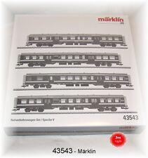 Märklin 43543 Lot de Wagons Banlieue la Sncb 4 Pièces # Neuf Emballage D'Origine