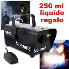 MACCHINA FUMO SMOG NEBBIA 500W CON 250 ml liquido in regalo incluso foschia