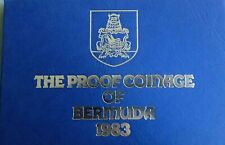 1983 Bermuda 7 Coin Proof Set Royal Mint Case and papers FREE SHIPPING