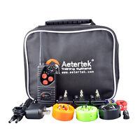 Aetertek waterproof Rechargeable Electric Shock Training Collar Remote 3 Dogs