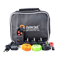 Aetertek waterproof Rechargeable Electric Shock Training Collar Remote 3 Dogs