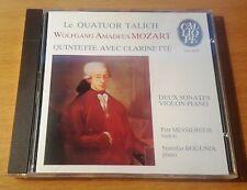 CD / MOZART / QUINTETTE CLARINETTE / 2 SONATES / QUATUOR TALICH