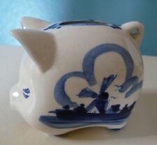 tirelire cochon Delft céramique hand painted 8,5 cm de hauteur