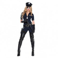 Adults Stop Traffic Police Costume - Size 8/10- Amscan New