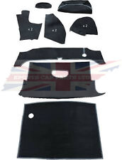 New Deluxe 11 Piece Trunk (Boot) Black Carpet Kit MGB 1963-80 Roadster Made UK