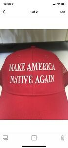 """""""MAKE AMERICA NATIVE AGAIN"""" Snap Back Hat Black Custom Embroidery"""