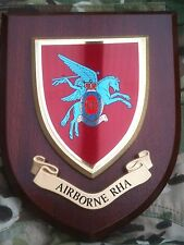 Airborne RHA Wall Plaque Royal Horse Artillery Uk Hand Made MOD