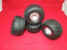 4 MONSTER MUTT Wheels tires Traxxas Stampede Rustler vxl xl-5 xl5 monster jam