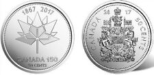 2017 - BOTH VARIETIES CANADIAN/CANADA - 50 CENT COINS UNC