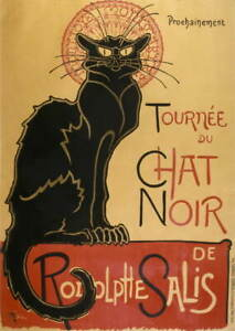 Theophile Alexandre Steinlen Tour of the black cat Giclee Paper Print Poster