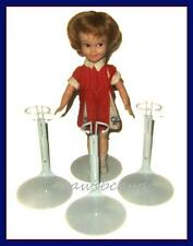 """3 White KAISER 8"""" Betsy McCall Doll Stands fit Vintage 9"""" SKIPPER Penny Brite"""