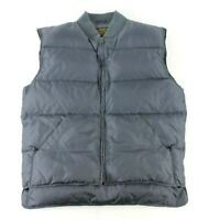 Eddie Bauer Gray Goose Down Puffer Vest • Mens Size Small Vintage Puffy