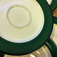 White~Green~Black SAUCER Lot: 7 Unbranded China Dinnerware Coffee Tea Plate Set