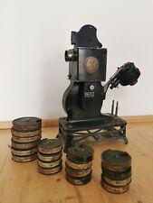 Pathé Kinlein 9,5mm Pathe Projektor Filmprojektor BP-EX um 1920 antik mit Filmen