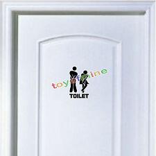 Toilette drôle Entrée Signe Vinyle Decal Sticker pour boutique office home hotel