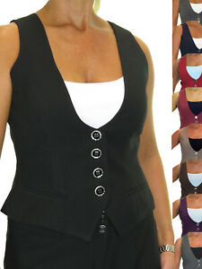 ICE Waistcoat Lined Washable Office Day Work Clubbing 10-22