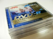 JVC 5-Pack 16x high speed DVD-R recordable DVD's 120 min, 4.7 GB