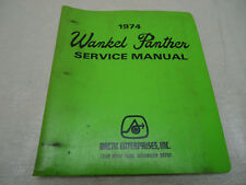 Vintage 1974 Wankel Panther service Manual OEM 0153 030
