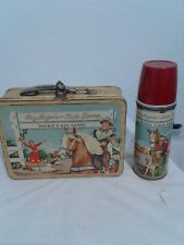 Roy Rogers and Dale Evans lunch box with thetmos 1950s