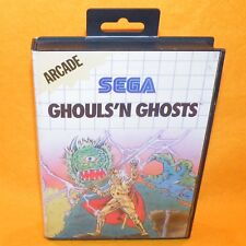 VINTAGE 1990 SEGA MASTER SYSTEM GHOULS 'N GHOSTS CARTRIDGE VIDEO GAME PAL ARCADE
