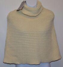 Nouveau York Industrie italien femme poncho/pull/pull en crème (m) rrp £ 90