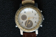 CAMEL TROPHY ADVENTURE MENS CHRONOGRAPH WATCH CHRONO TIME BRONZE FACE & LEATHER