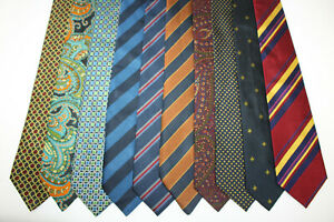 LOT OF 10 HOLLIDAY & BROWN  silk ties MADE IN ENGLAND. F16232