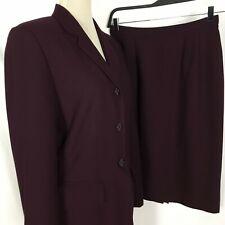Le Suit Women 2 Pc Purple Skirt Suit Set Career Size 10
