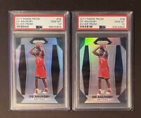 2017 Panini Prizm Silver Prizm OG Anunoby Rookie RC PSA 10 GEM MINT (2 Card Lot)