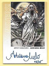 2014 Goodwin Champions Monsters 3D #12 Banshee / Adriana Melo Autograph #03/25