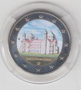 Deutschland  2 €   Niedersachsen  2014  coloriert  Farbmünze