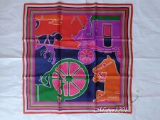 "Coach NWT 83060 Jumbo Horse And Carriage 27""x27"" Silk Scarf Multicolor"
