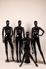 Männliche schwarz glänzende Abstrakte Schaufensterpuppe Mann stehend Eggead Neu