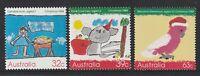 Australia 1988 : Christmas - Set of 3 Decimal Stamps, MNH