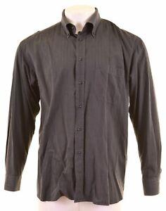 ROCCOBAROCCO Mens Shirt Size 18 1/2 46 2XL Grey Cotton  HX23