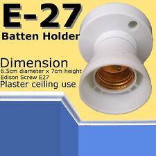 5x E27 Batten lamp holder ES Bulb Edisson Screw Halogen Lighting accessories DIY