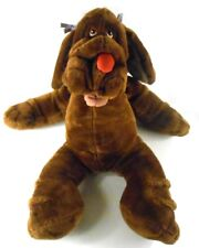 "Ganz Large WRINKLES DOG PUPPET Brown Girl 28"" Huge w/ Bows in Ears"