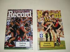 AFL/VFL footy records geelong v carlton 1987,geelong vs hawthorn 1987