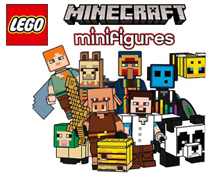 LEGO: Minecraft Minifigures & Animals New & Unbuilt.