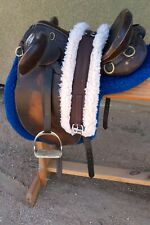 """Australian Outrider 14"""" Saddle with Leathers, Stirrups, and Girth Pad"""