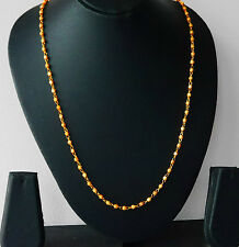 Dall'aspetto reale 22K placcato Oro Perline Stile Collana Catena 26 in (ca. 66.04 cm) stile u10