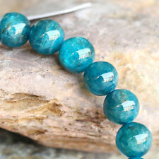 Natural Genuine Green Blue Apatite Stretch Finish Bracelet Round Beads 8mm