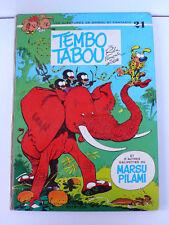 SPIROU ET FANTASIO  ROBA/FRANQUIN/GREG  TEMBO TABOO  EO DUPUIS 1974   DOS ROND