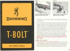 Browning T-Bolt .22 Rifle Post-1974 Owner's Manual