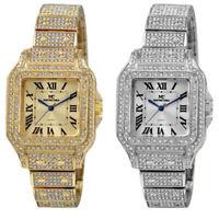 47mm Montres Carlo Men's Rapper Hip Hop Luxury 1.4k Stones Clubbing Wrist Watch