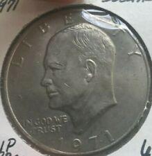 1971 Ike Eisenhower Dollar Clip Error - Major Error! - Uncirculated
